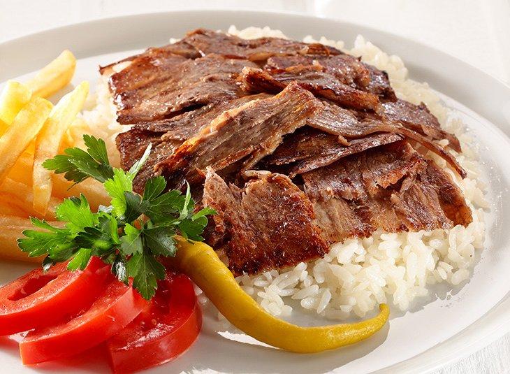 ولحم شاورما بالأرز